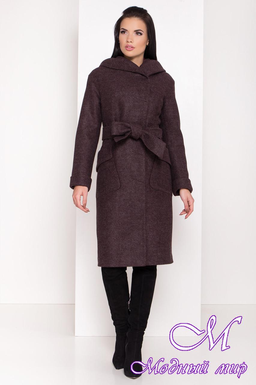 Женское теплое зимнее пальто с капюшоном (р. S, M, L) арт. А-82-99/44425