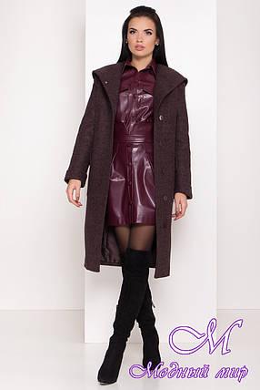 Женское теплое зимнее пальто с капюшоном (р. S, M, L) арт. А-82-99/44425, фото 2