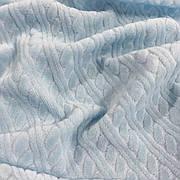 Велюр х/б голубой в косичку ширина 180 см