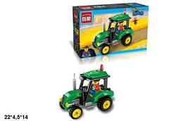 Конструктор трактор с фигуркой, 112деталей, Brick, 1102