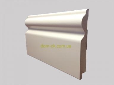 Ламинированный плинтус МДФ Супер профиль,  высота 110мм., длина 2,8 м белый