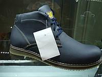 Ботинки Cat мужские на меху синие