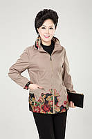 Женская куртка с вышивкой, 4 цвета, батал, фото 1