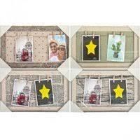 Фоторамка-коллаж на 2 фото с прищепками 512-2 24х39