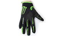 Мотоперчатки текстильные MONSTER Energy MS-4637-BG (закр.пальцы, р-р M-XL, черный-салатовый)