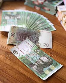 """Сувенірні гроші """"20 гривень"""", Сувенирные деньги """"20 гривен"""""""