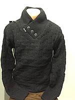 Мужской свитер с шалевым воротником M,L,XL, фото 1