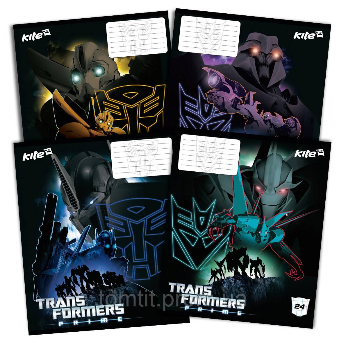 Тетради «Transformers» 24 листа, клетка