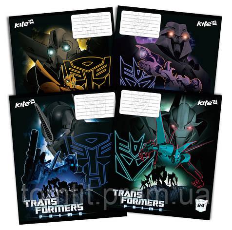 Тетради «Transformers» 24 листа, клетка, фото 2