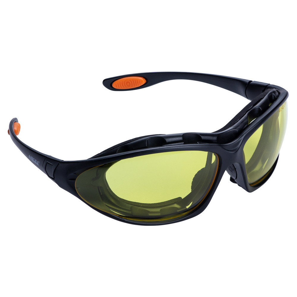 Набор очки защитные с обтюратором и сменными дужками Super Zoom anti-scratch, anti-fog (янтарь) Sigma