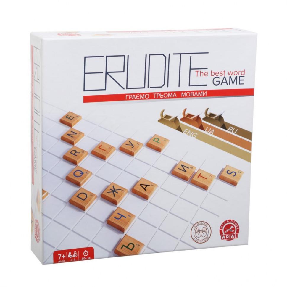 Настольная игра Arial ERUDITE (Ерудит три языка) 910091-2, настолка, подарок