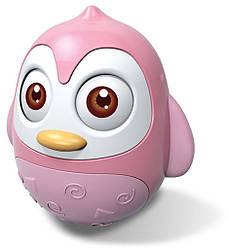 Игрушка неваляшка Baby Mix Пингвин HS-0201, розовый (8932)