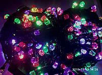 Новогодняя светодиодная гирлянда 200 led цветная Six Cornered 200 led