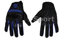 Мотоперчатки текстильные SCOYCO MС24-BKB (протектор-усилен, р-р M-XL, черный-синий)