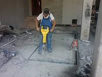 Демонтаж разбивка разрушение железобетона, кирпича, бетона.
