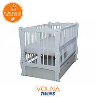 Дитяче ліжко TWINS ХВИЛЯ маятник + ящик + відкидний пліч-Біла