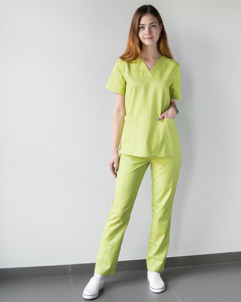 Медицинский женский костюм Toronto lime