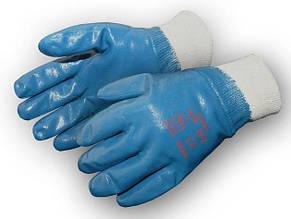 Перчатки рабочие МБС синяя вязанный манжет 10.5 (Польша)