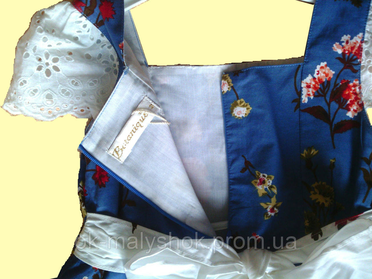 2db5e246300c4bd Нарядное детское синее платье