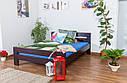 Кровать двуспальная односпальная деревянная 180х200 Массив дуба Ліжко, фото 7