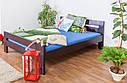 Кровать двуспальная односпальная деревянная 180х200 Массив дуба Ліжко, фото 8