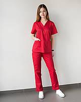 Медицинский женский костюм Toronto red, фото 1