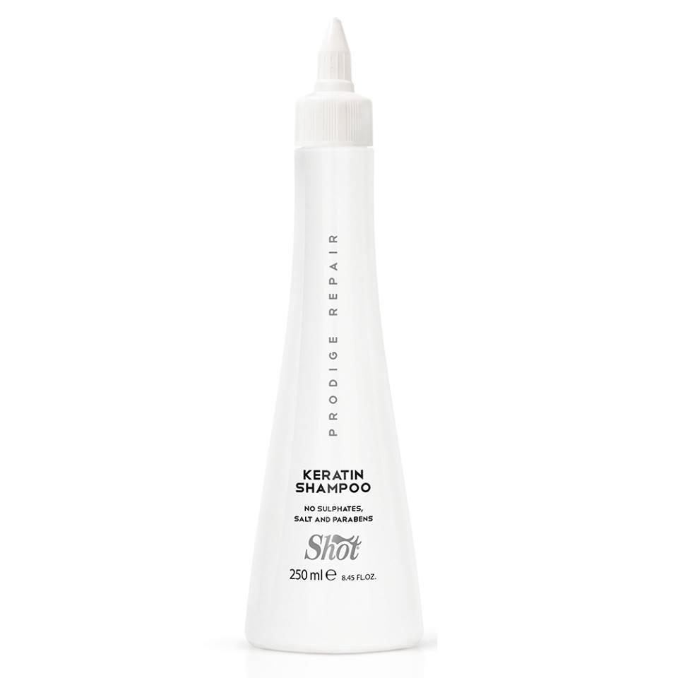 Shot prodige repair keratin shampoo Шампунь для глубокого восстановления поврежденных волос, 250 мл
