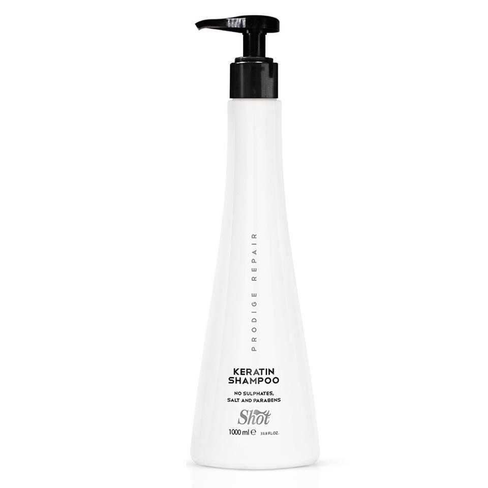 Shot prodige repair keratin shampoo Шампунь для глубокого восстановления поврежденных волос, 950 мл