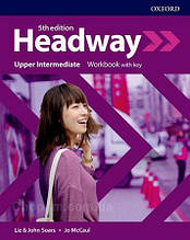 New Headway 5th Edition Upper-Intermediate Workbook with key / тетрадь