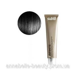 Ducastel Subtil Infinite - стойкая крем-краска для волос без аммиака 1 - чёрный, 60 мл