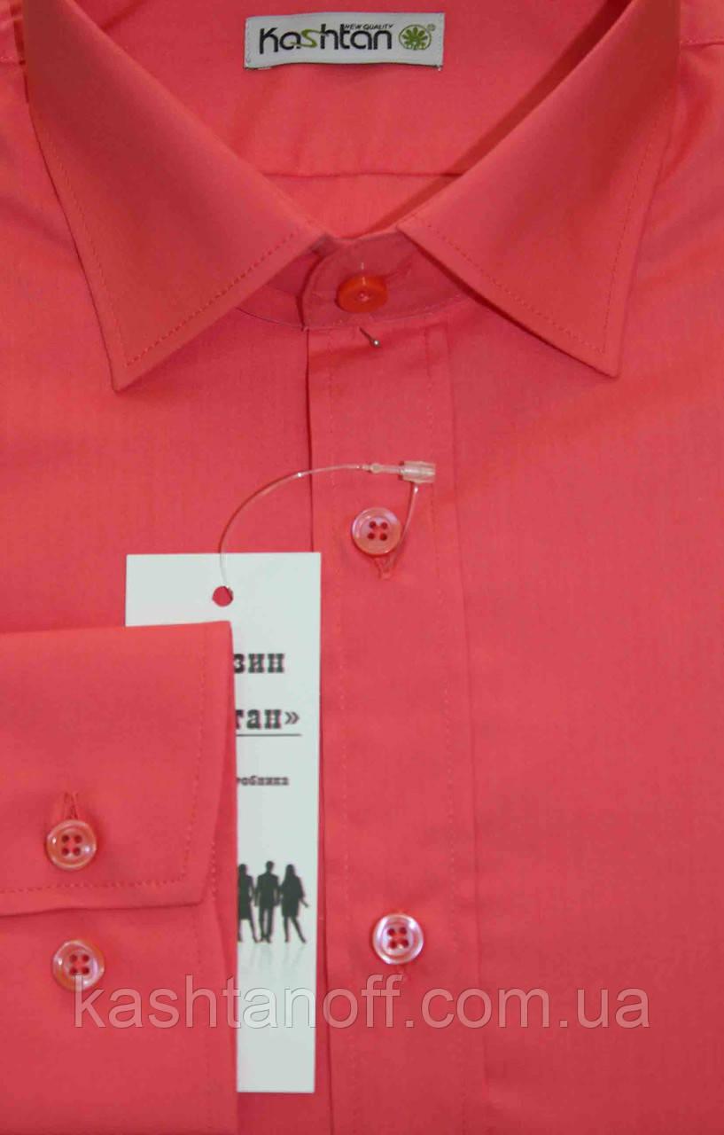 b71cd7750de8aba Мужская рубашка кораллового цвета, цена 499 грн., купить в Киеве — Prom.ua  (ID#126434912)