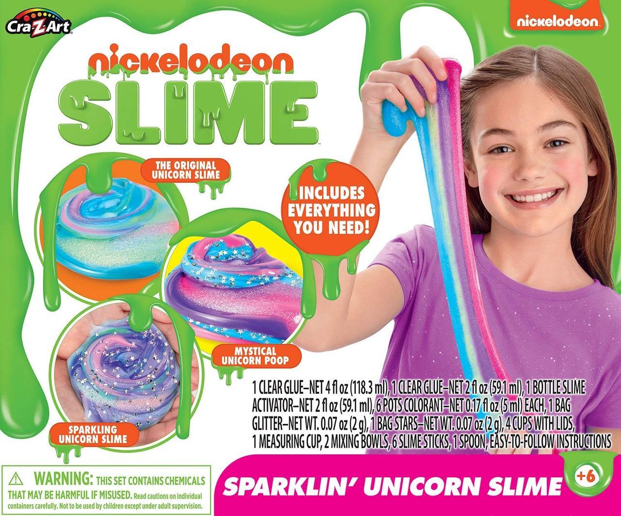 Набор Cra-Z-Art для создания блестящего слайма Едиорога. Nickelodeon Ultimate DIY Unicorn Slime Kit