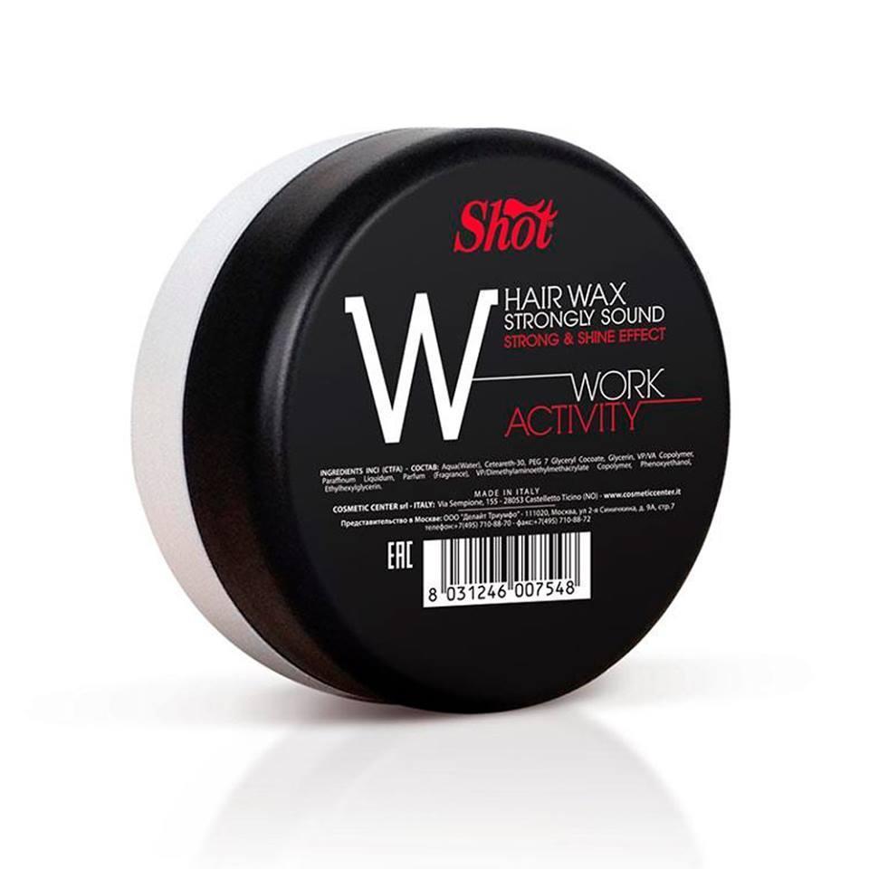 """Shot hair wax strongly sound """"w"""" воск сильной фиксации с эффектом блеска 100 мл"""