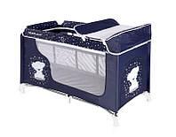 Кровать-манеж Lorelli Moonlight 2 dark blue teddy bear 10080411832
