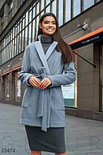 Пальто нежно-голубого цвета