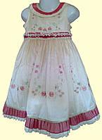 Нарядное платье для девочки, с вышивкой, с декоративным поясом, р. 2,4