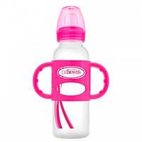 Бутылочка-поильник с узким горлышком и силиконовыми ручками,  250 мл Др.Браун® Natural Flow®