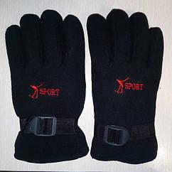 Перчатки Флис с поролоном черные