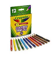 Карандаши цветные, короткие, 12 цветов, Crayola, 4112