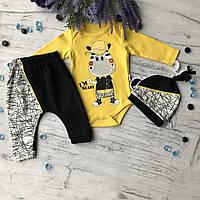 Желтый костюм, комплект на мальчика Miniworld 109. Размер 68 см. 74 см