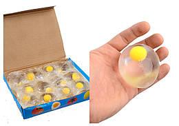 Попрыгунчик-лизун смайл, 4 цвета, 12 шт в упаковке, L0103