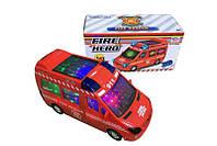 """Машина игрушечная """"Городская служба"""" (свет, звук), 2 вида (Скорая помощь / Пожарная), 89-3689B/2689B"""