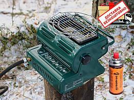 Плита-обігрівач газова Tramp TRG-036. Газовый обогреватель плита с керамической горелкой с адаптером д