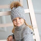 Шапки зимние для девочек р-ры 54,56, фото 2