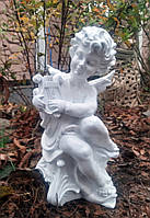 Скульптура Ангел с арфой полимер 30 см, фото 1
