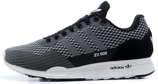 Мужские кроссовки Adidas ZX-900 в черно-белом цвете