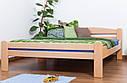 Кровать двуспальная односпальная деревянная 180х200 Массив дуба Ліжко, фото 3
