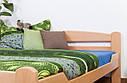 Кровать двуспальная односпальная деревянная 180х200 Массив дуба Ліжко, фото 4
