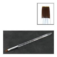 Кисть для геля YRE №6 с прозрачной ручкой (прямой ворс)