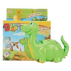 Музыкальная игрушка Динозаврик, свет, музыка, 6028